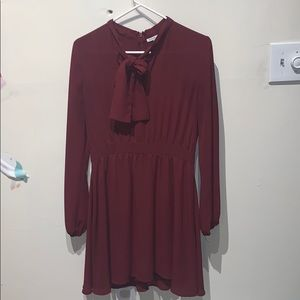 Burgundy colored Dress